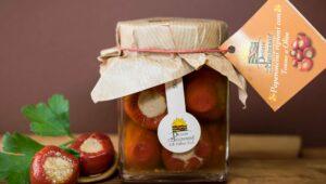 Peperoncini ripieni con Tonno e Olive 280gr in olio extravergine di oliva