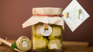 Carciofi ripieni Ricotta Pecorina 280gr in olio extravergine di oliva